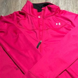HOT PINK WOMEN'S FULL ZIP UNDER ARMOUR SIZE LARGE